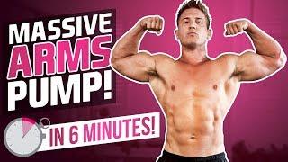 6 MIN ARM BLAST! BICEPS & TRICEPS! (Follow Along Workout!)
