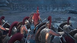 Assassin's Creed Odyssey - 300 Spartan & Leonidas Battle Gameplay (PS4 PRO)