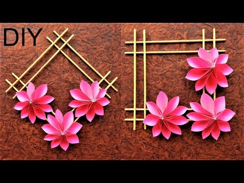 EASY WALL DECORATION IDEAS | DIY WALL DECORATION IDEAS WITH PAPER | HOW TO MAKE PAPER WALL HANGING