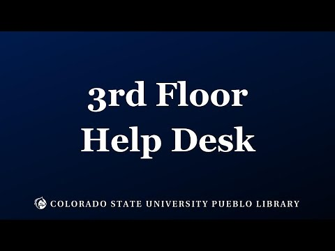 Csu Pueblo Library Tour 3rd Floor Help Desk