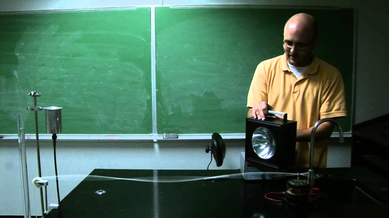 Strobe light demonstration with standing waves - YouTube