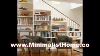 The Small Living Room Staircase Shelves Small Space