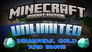 [0.8.1] Minecraft Pocket Edition Cheats/Glitches - Unlimited Diamonds, Gold & Iron!!