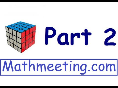 How to solve the 4x4 Rubik's cube - part 2