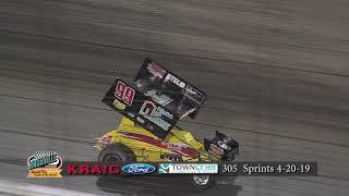 Knoxville Raceway Pro Sprints Highlights - April 20, 2019