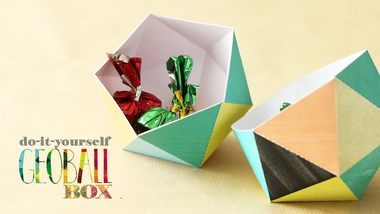 Geoball box easy arts craft diy with template youtube solutioingenieria Images