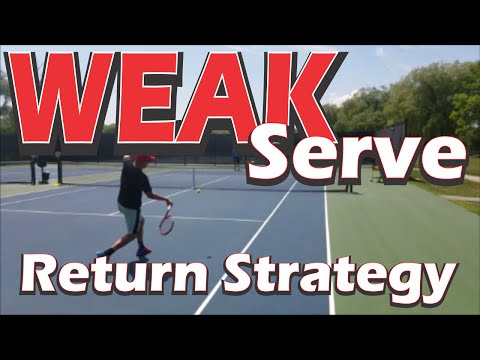 ONLINE VIDEO TENNIS TIPS | Return Strategy Against Weak Serves