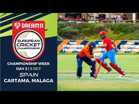 🔴 Dream11 European Cricket Championship | Championship Week Day 2 Cartama Oval Spain | Live Cricket