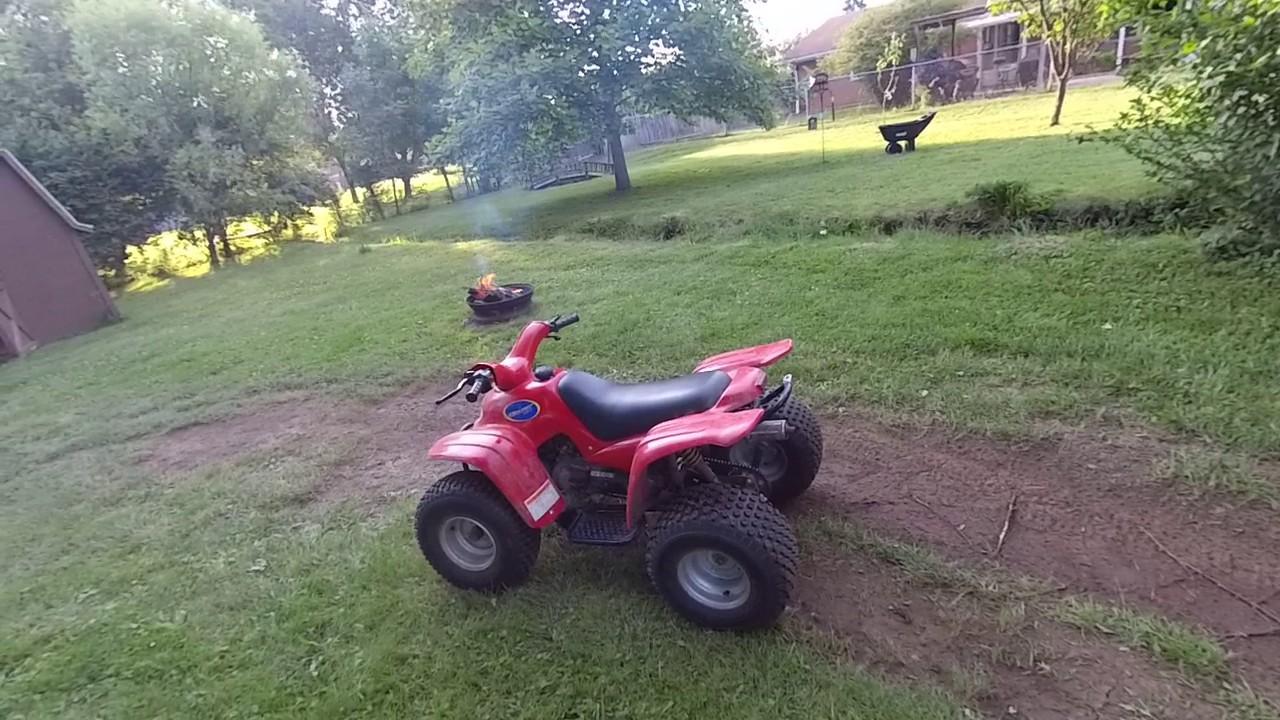 Riding the her chee 90cc atv