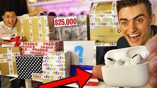 I SPENT $50,000 ON 11 EBAY MYSTERY BOXES!! (NEW AirPods PRO UNBOXING & REVIEW) Giveaway! BOX OPENING