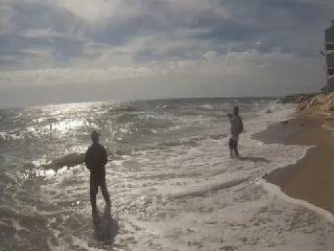 Surf Fishing Flounders Carolina Beach