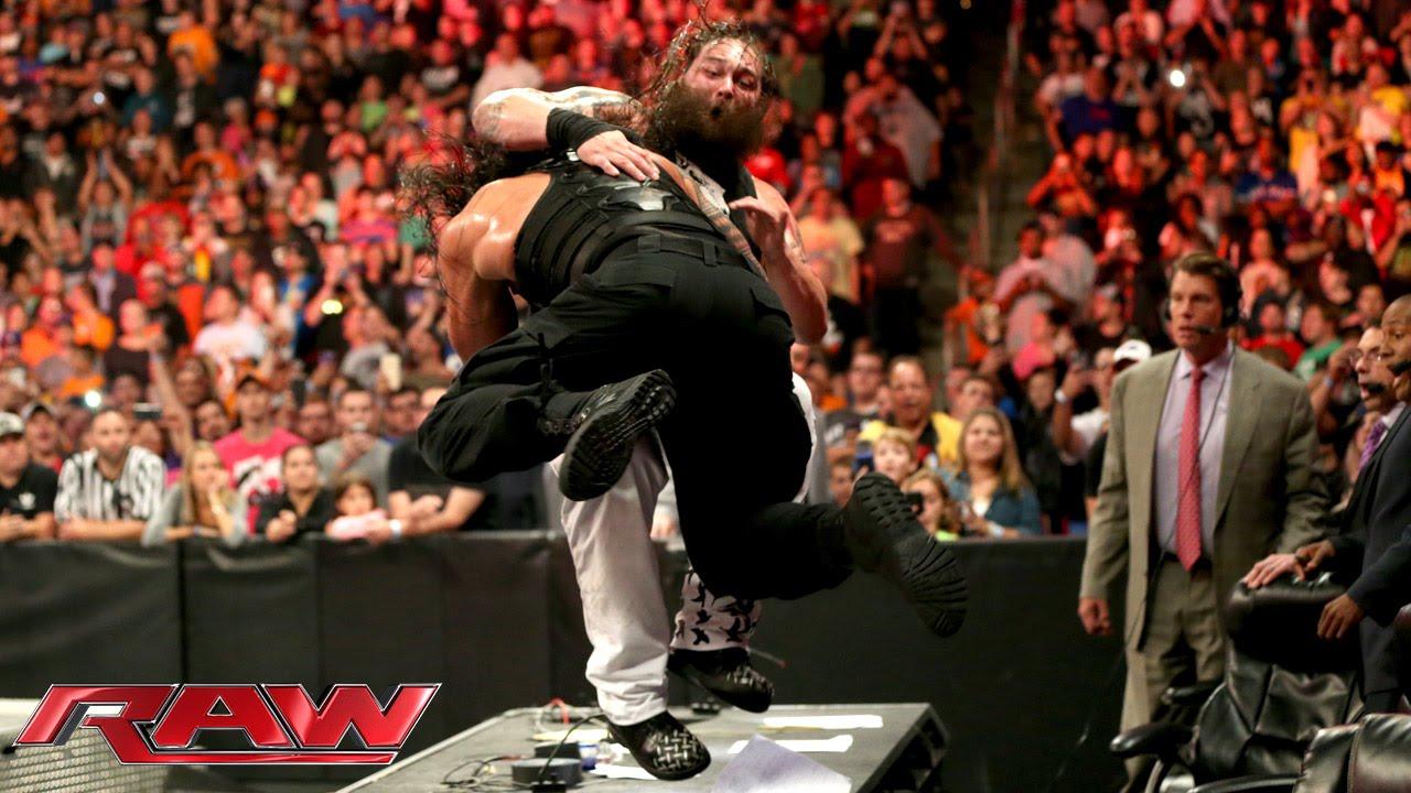 Roman Reigns vs. Bray Wyatt: Raw, Sept. 28, 2015 - YouTube