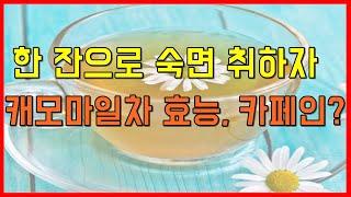 캐모마일차 효능과 부작용 카페인 알아봅시다