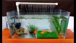 How to make an Aquarium Fountain using a PVC pipe / DIY