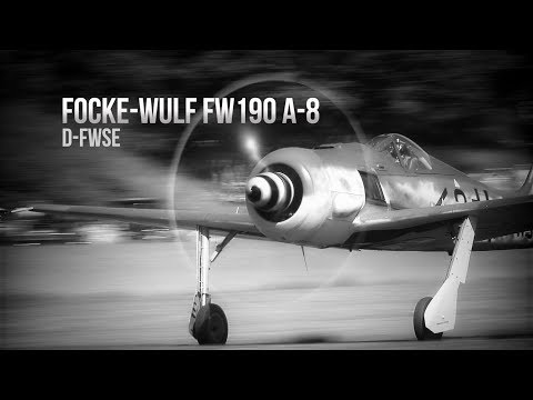 Focke-Wulf Fw 190 A-8 flying in Sweden! First high quality video footage.
