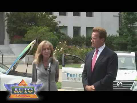 Gov Schwarzenegger Welcomes Audi Olymipic Fuel Cell Cars