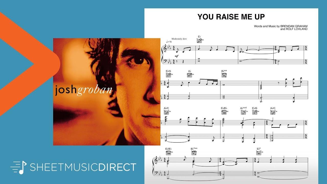 You Raise Me Up Sheet Music Josh Groban Piano Vocal Guitar