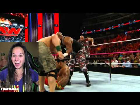 WWE RAW 10/19/15 John Cena Dudley Boyz Get The Table
