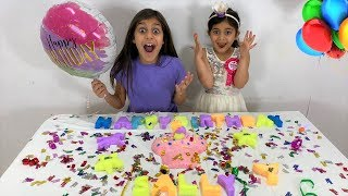 Deema Play Surprise Birthday party Slime Challenge