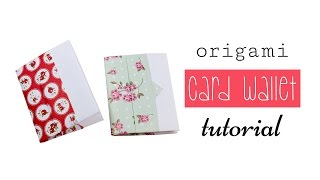 Easy Origami Wallet ♥︎ Short Version ♥︎ DIY ♥︎