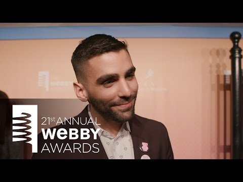 Phillip Picardi on the Red Carpet at the 21st Annual Webby Awards