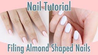 Nail Tutorial: Filing Alṁond Shaped Nails