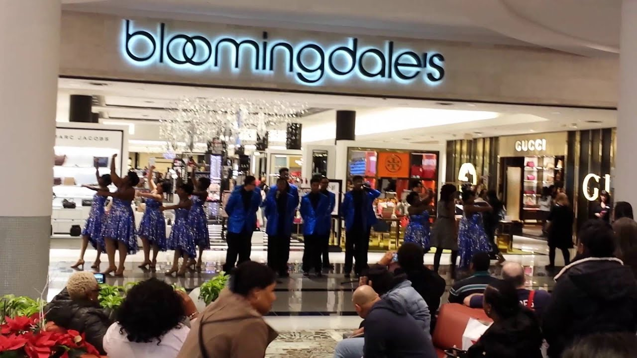singers at bloomingdales roosevelt field long island dec 21 2015 rh youtube com