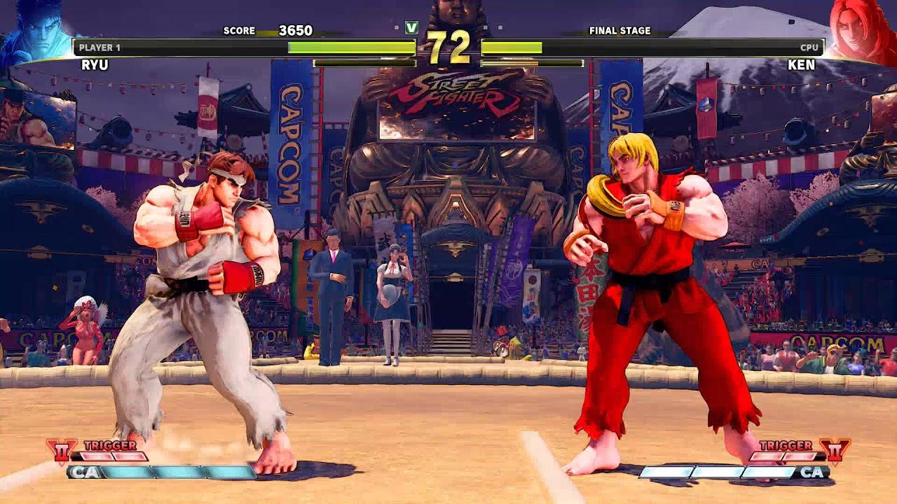 Street Fighter V Arcade Edition Ryu Vs Ken Arcade Mode Ending