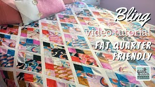 Modern Fat Quarter Friendly Diamond Quilt Pattern - Bling