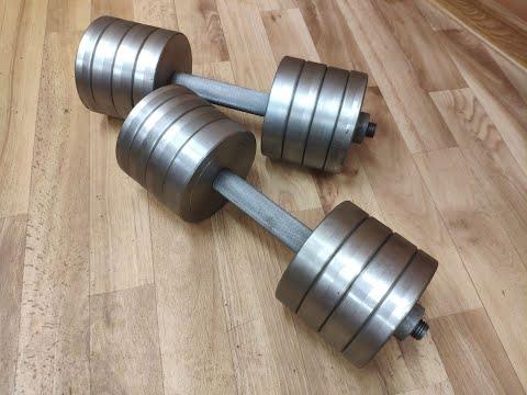 Гантели по 20 кг (40 кг пара), разборные