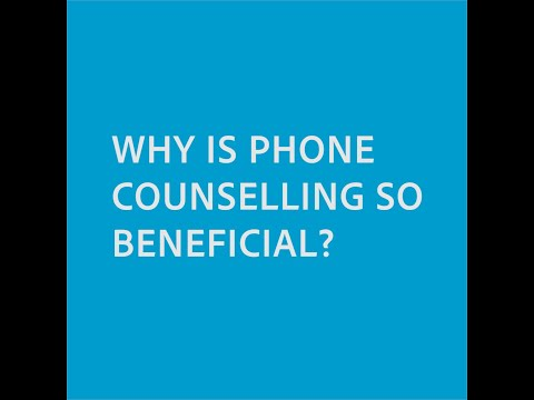 """Why is telephone counselling so beneficial?"""