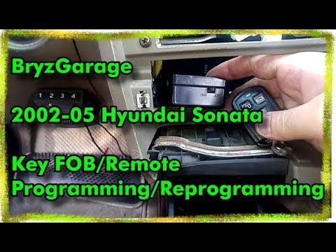 2002 05 Hyundai Sonata Key Fob Remote Programming Youtube