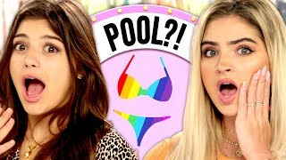 RAINBOW Outfit Challenge?! Wheel of Fashion w/ Gabriella Whited & Carrington Durham