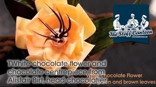 White chocolate flower and chocolate centrepiece from Alistair Birt, head chocolatier