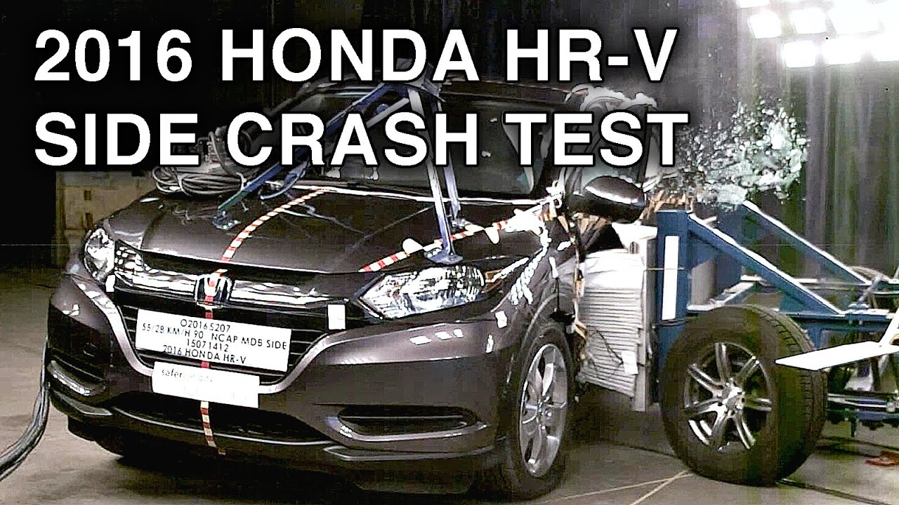 2016 honda hr v crash test side crash youtube. Black Bedroom Furniture Sets. Home Design Ideas