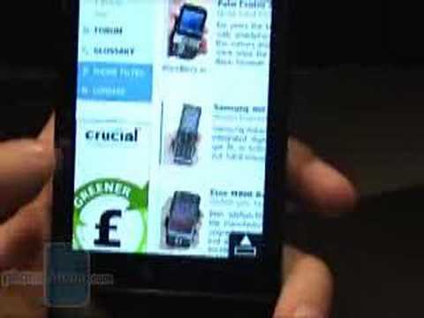 Hands-on with HTC Touch Diamond: Internet
