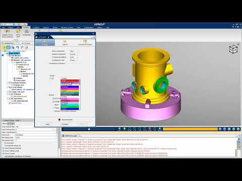 Inspect the Simulated Cut Model with VERICUT's AUTO-DIFF