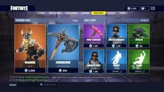 NEW FORTNITE MAGNUS LEGENDARY SKIN AND FOREBEARER HARVESTING TOOL