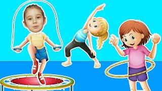 Asya SÜPER Jimnastik Yapmayı Öğreniyor | Asya 'nın Dünyası Eğlenceli Çocuk Videoları
