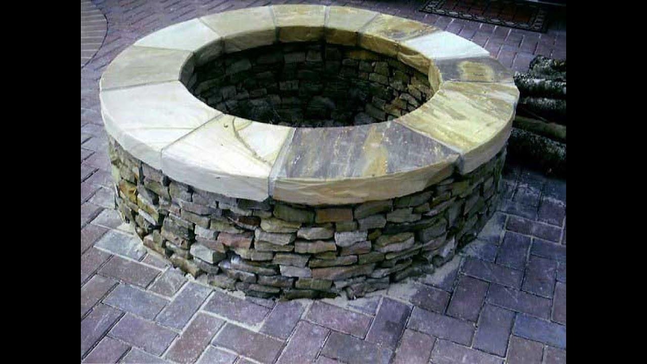 stone backyard fire pit youtube