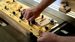 Jointing A Straight Edge On A Table Saw With The Microdial Tapering Jig