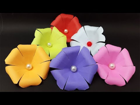 How to make paper flowers - origami flower easy | Diy paper craft