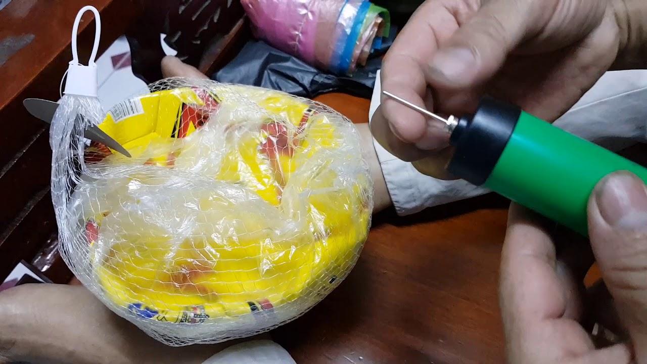 Hướng dẫn bơm trái  banh da dễ dàng với đồ bơm chuyên dụng | Banh Da 110K |