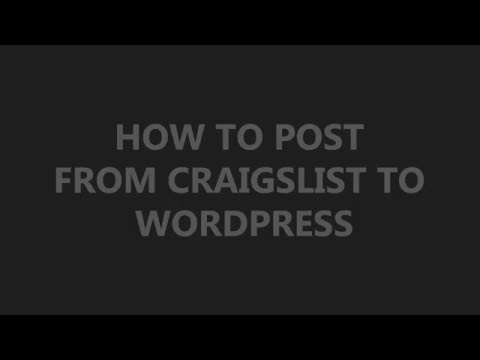 How to post from Craigslist to wordpress