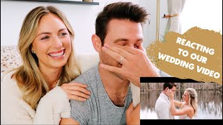 REACTING TO OUR WEDDING VIDEO FOR THE FIRST TIME *emotional reaction*