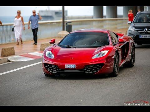 Volcano Red McLaren 12C making some Crazy Accelerations in Monaco !