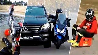Mercedes VS Skuter Uber Eats, Jeżdżąca Skrzynka Po Piwie i Utopiona Honda | Szorty Luczyna #16