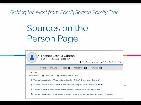 Family Tree: Sources on the Person Page - Kathryn Grant