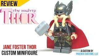 Lady Thor Jane Foster Rare Custom LeGo Minifugres  MOC MARVEL IRON MAN