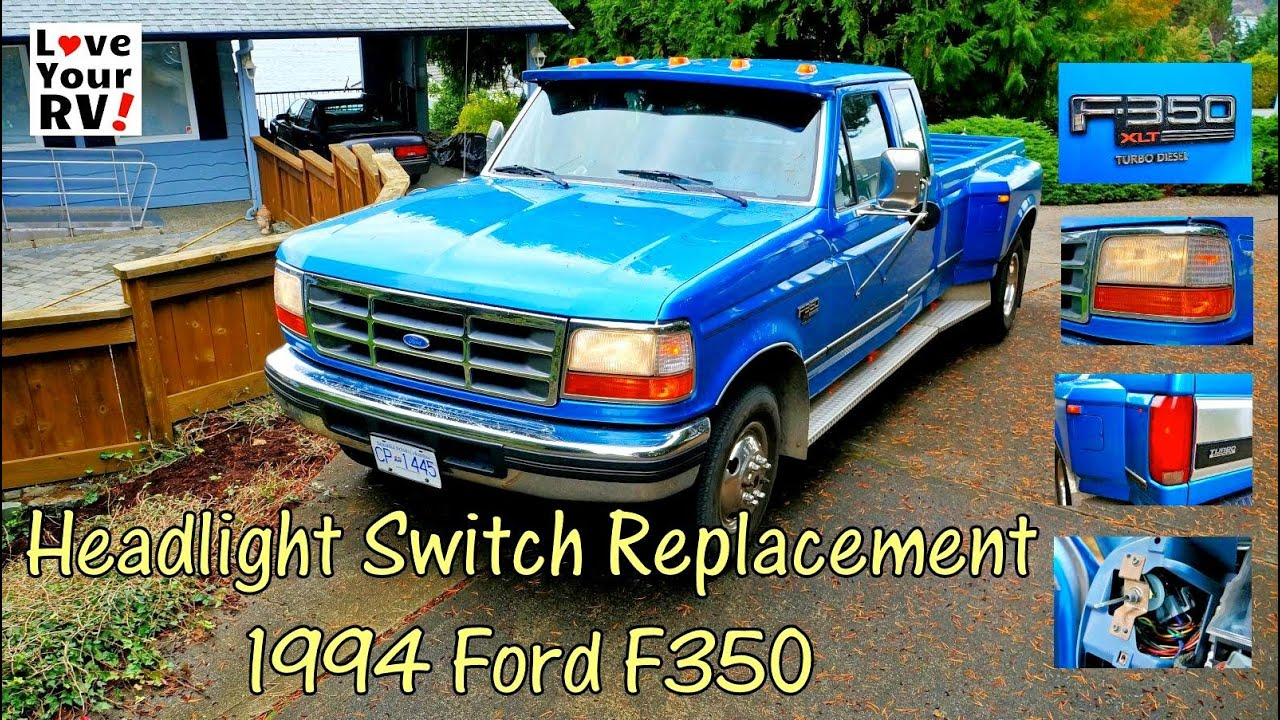 Replacing Our Ford Trucks Intermittent Headlight Switch Youtube 1990 F800 Diesel Wiring Diagram